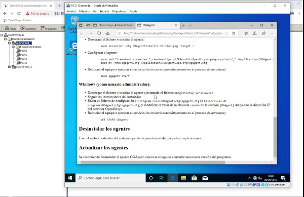 Instalación del ogAgent de OpenGnsys sobre Windows