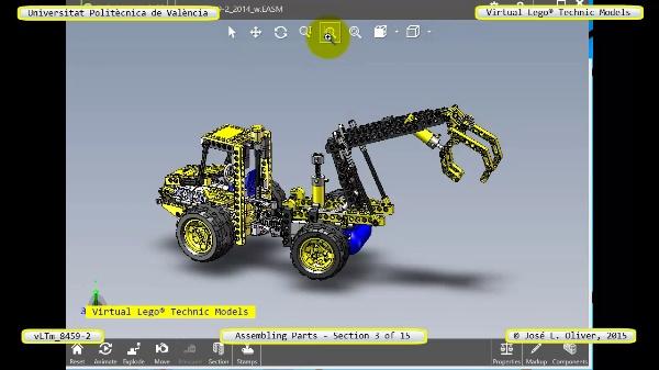 Montaje Modelo Lego Technic 8459-2 con Solidworks ¿ 03 de 15