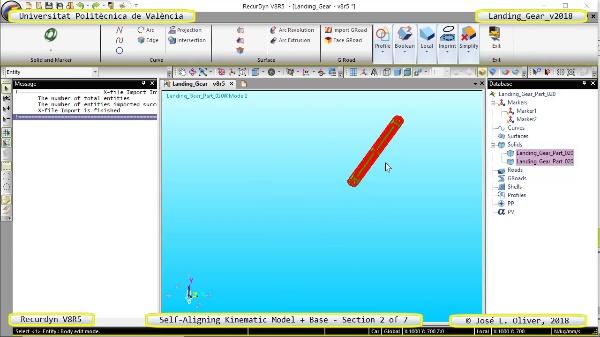 Simulación Dinámica de Tren de Aterrizaje con Recurdyn V8R5 - 2 de 7