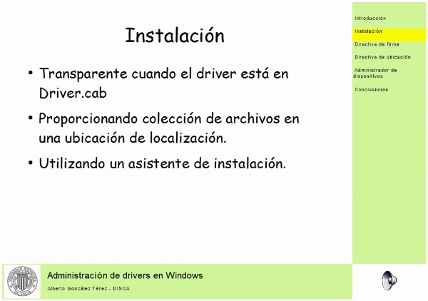 Administración de drivers en Windows
