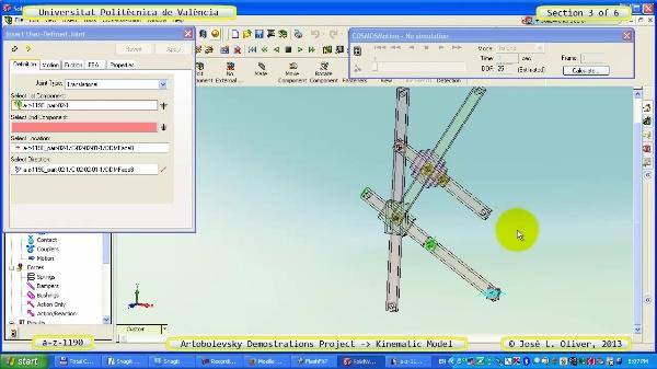 Simulación Mecanismo a_z_1190 con Cosmos Motion - 3 de 6