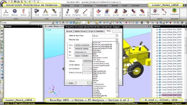 Simulación por Elementos Finitos de Cargadora Volvo L70C con Recurdyn V8R5 - 2 de 3