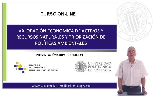 Presentación curso \Valoración económica de activos y recursos ambientales y priorización de políticas ambientales\