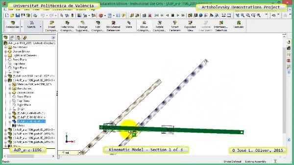 Simulación Mecanismo a-z-1196 con Cosmos Motion - 1 de 3