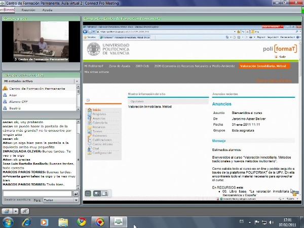 Grabación Clase on-line- Valoración inmobiliaria. Parte I