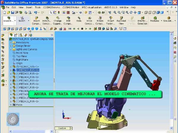 Montaje de un robot ABB con Solidworks - tramo O6 de 10