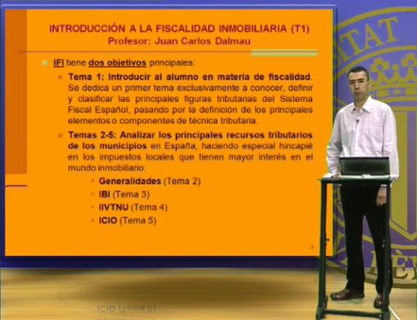 INTRODUCCIÓN A LA FISCALIDAD INMOBILIARIA 1 (1º CURSO)