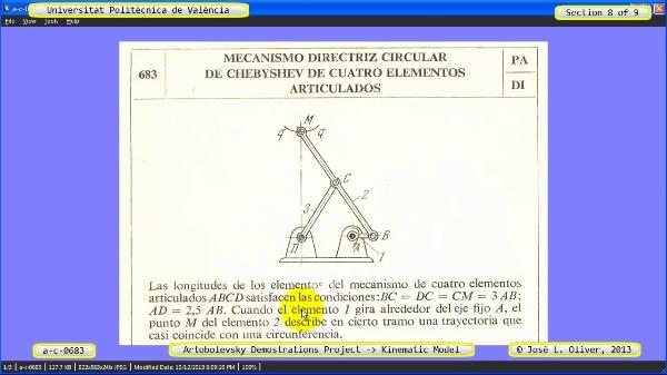 Simulación Mecanismo a_c_0683 con Cosmos Motion - 7 de 9