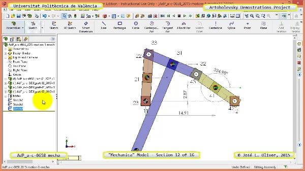 Simulación Mecanismo a-c-0658 con Mechanica - 12 de 16 - Modelo Mechanica
