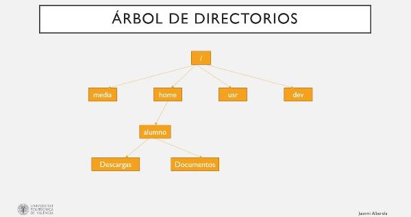 Comandos estructura de directorios de Linux
