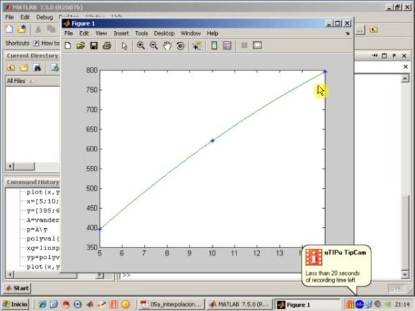 Tema 5. Interpolación polinómica. Interpolación cuadrática.