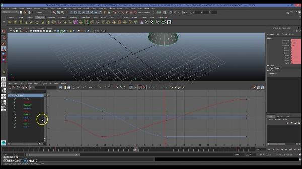 Creación y edición de claves con el Time Slider en Maya Autodesk
