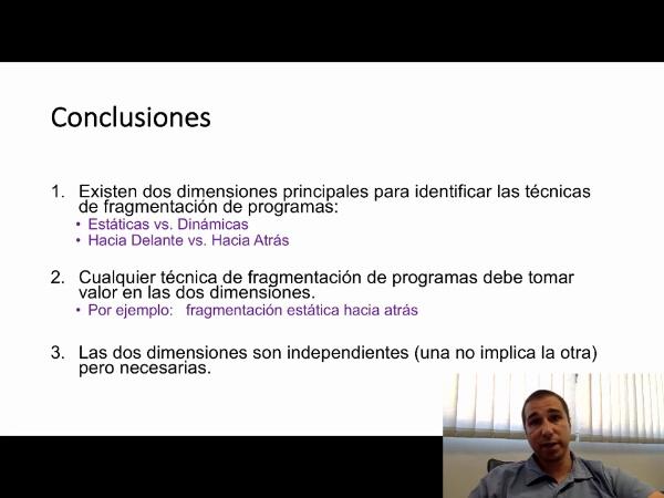 Fragmentación de Programas (Clasificación y Tipos)