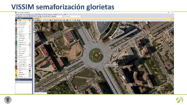 Semaforización Glorieta con VISSIM