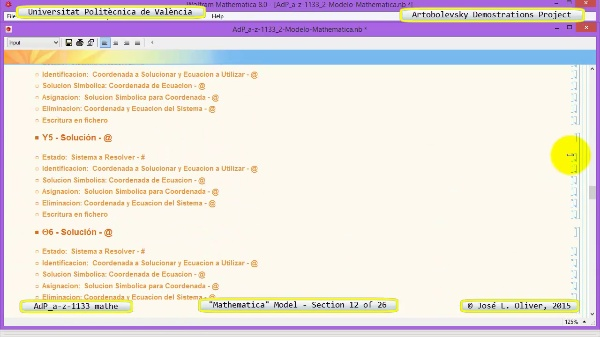 Solución Cinemática Simbólica a-z-1133 con Mathematica - 12 de 26