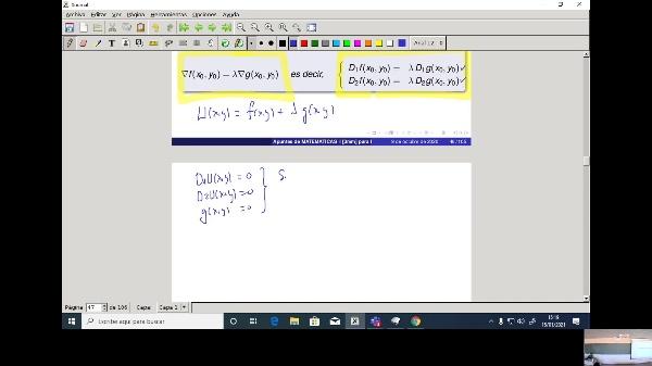 Matemáticas 1 GIOI grupo A  Clase 34 (Extremos 3)