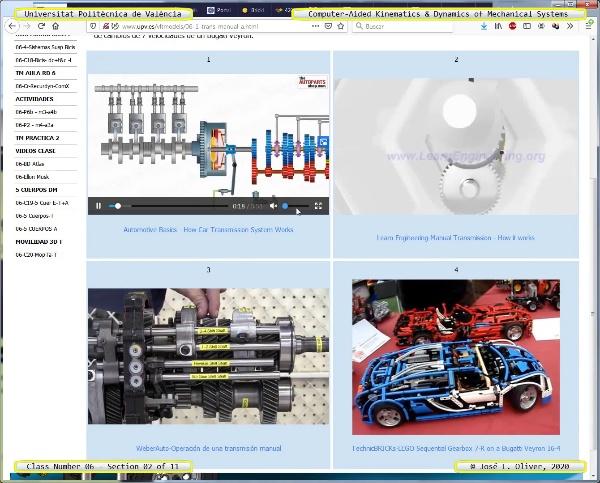 Mecánica y Teoría de Mecanismos ¿ 2020 ¿ MM - Clase 06 ¿ Tramo 02 de 11