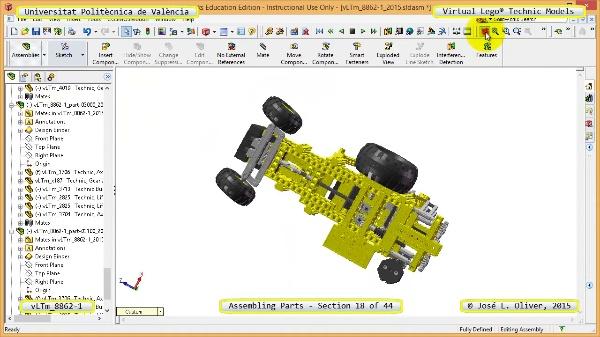 Creación Virtual Modelo Lego Technic 8862-1 ¿ Montaje Modelo ¿ 18 de 44