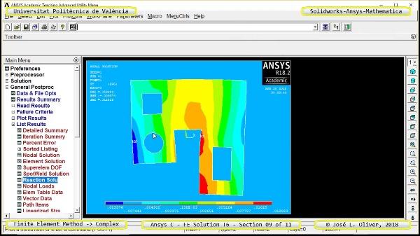 Solución Elementos Finitos Dominio-Plano en Ansys-Classic y Mathematica -T6- v2018 - 09 de 11