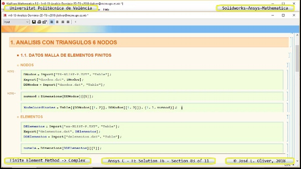 Solución Elementos Finitos Dominio-Plano en Ansys-Classic y Mathematica -T6- v2018 - 03 de 11