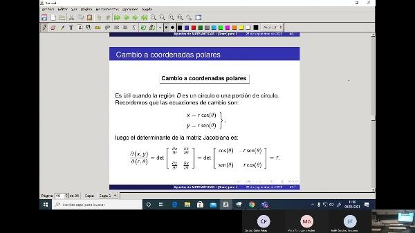 Matemáticas 1 GIOI grupo V Clase 31 (Integrales dobles 3)