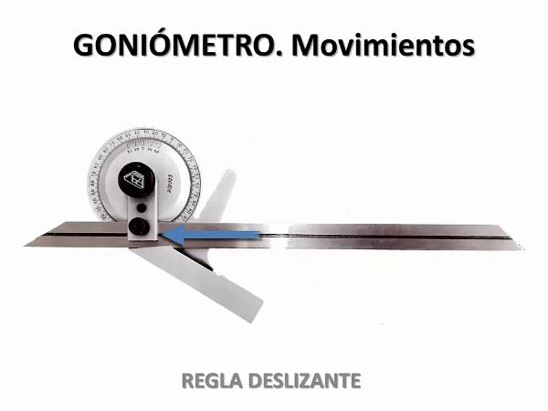 Medición de ángulos con Goniómtero