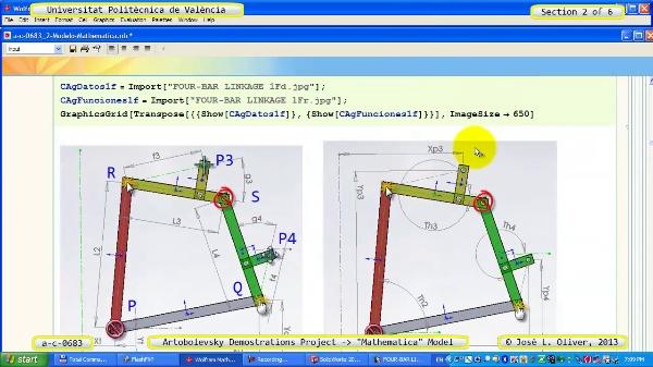 Solución Cinemática Simbólica a_c_0683 con Mathematica -B- 2 de 6