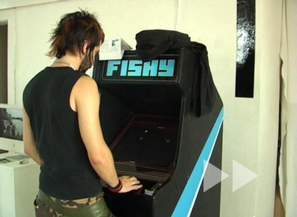 Fishy, instalación interactiva