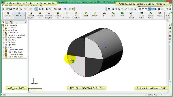 Creación Virtual Mecanismo a-c-0683 con Solidworks - 05 de 11