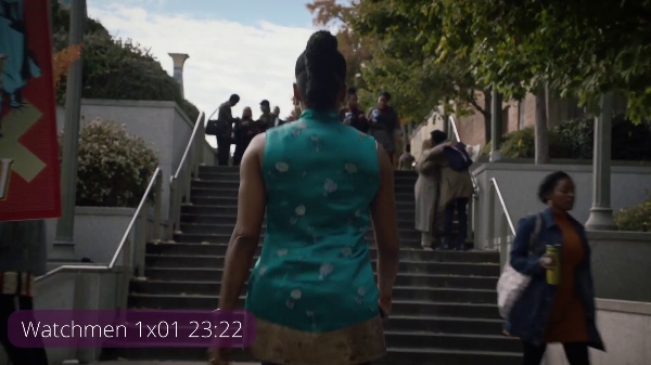 Watchmen 1x01 23m música extradiegética tension