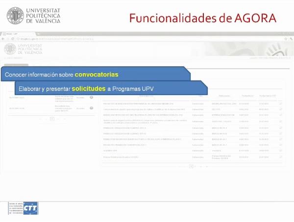 Presentación de ÁGORA