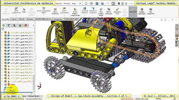 Creación Virtual Lego Technic 8047-2 ¿ Montaje de Cadenas ¿ 2 de 5