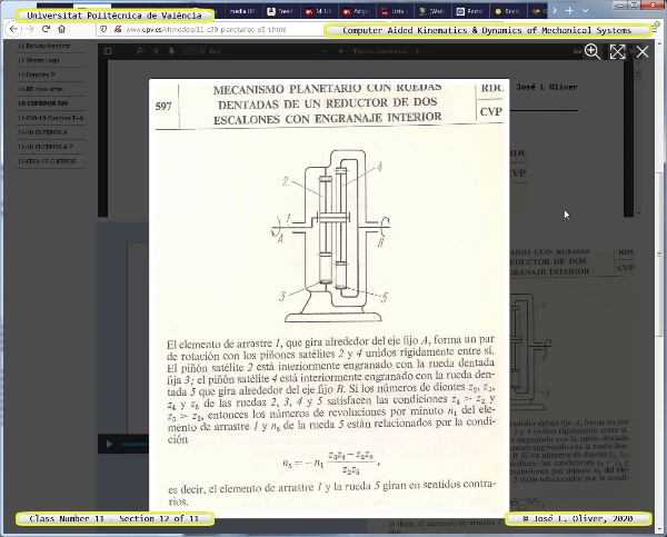 Mecánica y Teoría de Mecanismos ¿ 2020 ¿ MM - Clase 11 ¿ Tramo 12 de 11