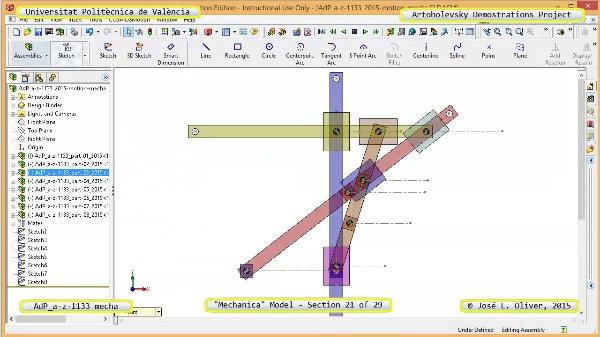 Simulación Mecanismo a-z-1133 con Mechanica - 21 de 29