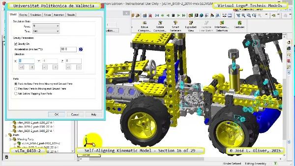 Simulación Cinemática Lego Technic 8459-2 con Cosmos Motion ¿ 16 de 29
