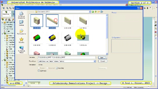 Creación Virtual Mecanismo a_z_0701 con Solidworks - 2 de 3