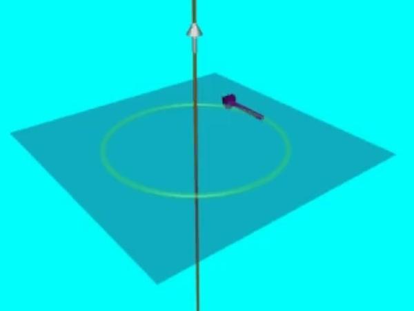 AmpereHD_3: Campo magnético sobre la circunferencia mostrada en la animación AmpereHD_2
