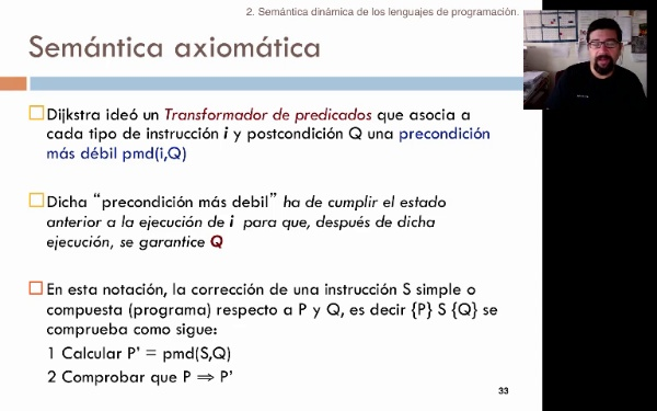 Tema 2. Semántica axiomática