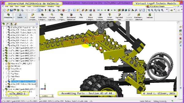 Creación Virtual Modelo Lego Technic 8862-1 ¿ Montaje Modelo ¿ 43 de 44
