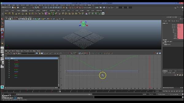 Creación y edición de claves con el Graph Editor de Maya Autodesk