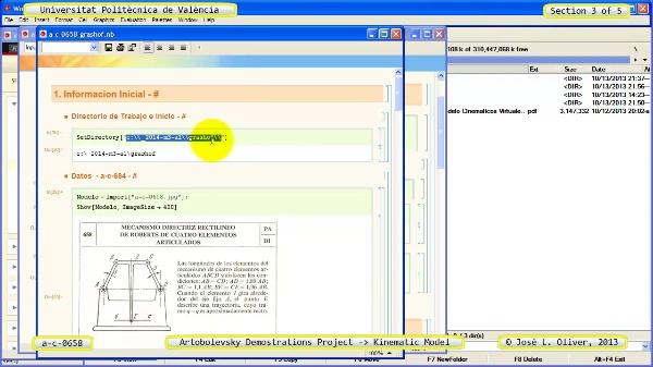Simulación Mecanismo a_c_0658 con Cosmos Motion - 3 de 5