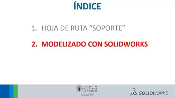 SolidWorks - Pieza SOPORTE