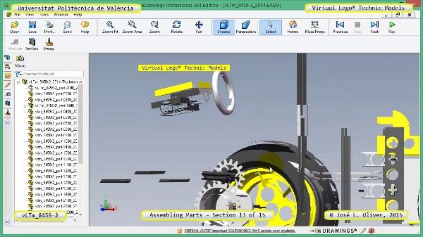 Montaje Modelo Lego Technic 8459-2 con Solidworks ¿ 13 de 15