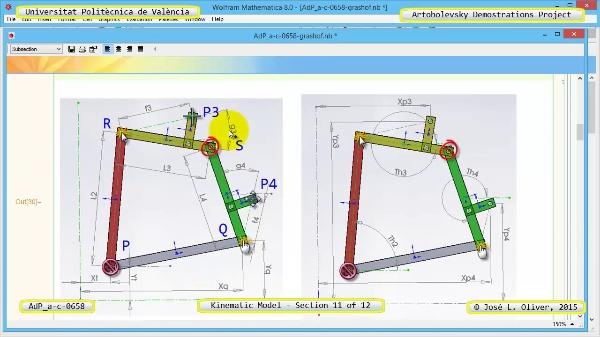 Simulación Mecanismo a-c-0658 con Cosmos Motion - 11 de 12