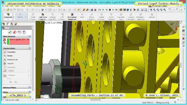 Creación Virtual Modelo Lego Technic 8862-1 ¿ Montaje Modelo ¿ 23 de 44