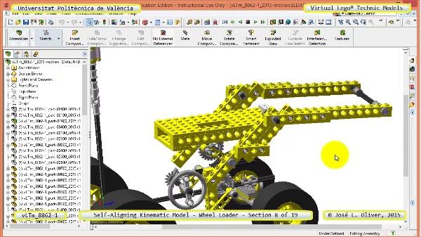 Simulación Cinemática Modelo Lego Technic 8862-1 -Cargador- 08 de 19