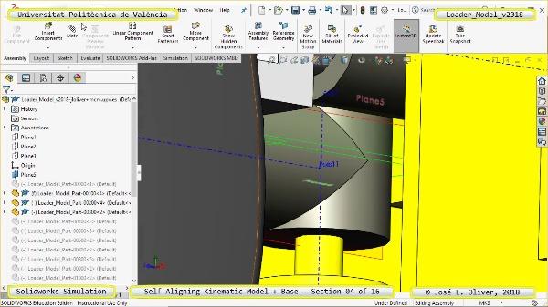 Simulación Dinámica de Cargadora Volvo L70C con Solidworks Motion v2017 - 04 de 16