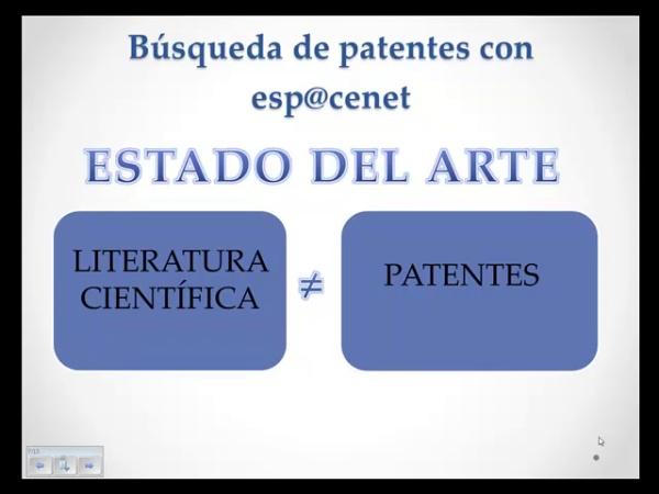 Búsqueda de patentes con espacenet