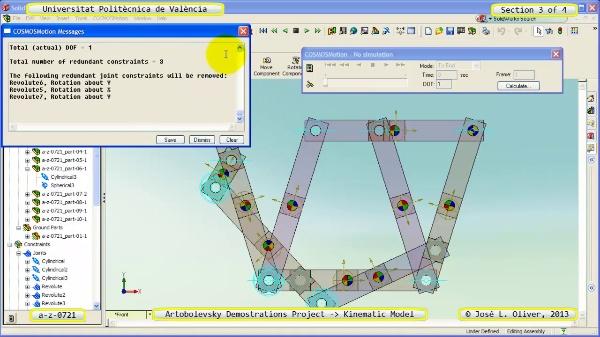 Simulación Mecanismo a_z_0721 con Cosmos Motion - 3 de 4
