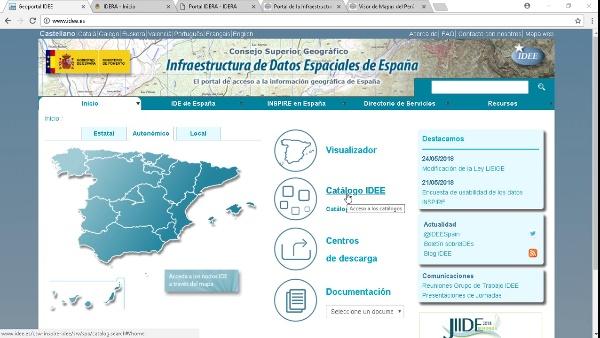 Geoportal IDE: Conexión y acceso a otras IDEs